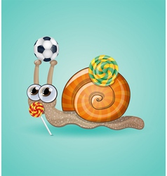 Isolated funny kid snail vector image vector image