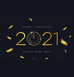 2021 new year and merry christmas banner vector image
