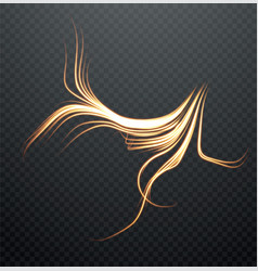abstract glowing form lightning isolated on a vector image