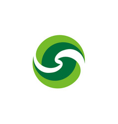 abstract letter s nature logo vector image