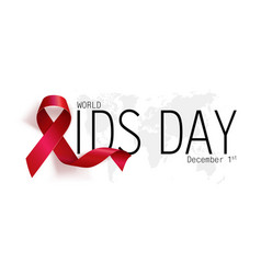 aids awareness world aids day concept red ribbon vector image