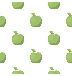 Apple icon cartoon Singe fruit icon vector