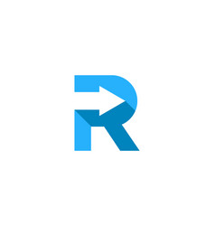 arrow letter r logo icon design vector image