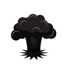 atomic bomb explosion vector image