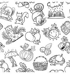 Autumn doodle vector image