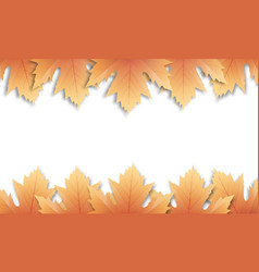 autumn leaves background fall maple leaves frame vector image