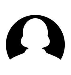 avatar icon female user person profile symbol in vector image
