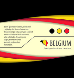 background with belgian colors vector image