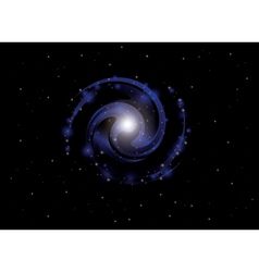 Background with spiral galaxy vector