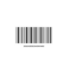 barcode with numbers on a white background vector image