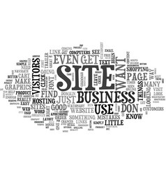 Basic steps to a great business website text word vector