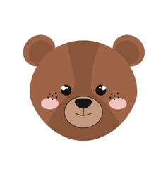 bear isolated icon design vector image