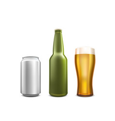 Beer collection set object on white background vector