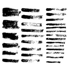 Black grunge brushes vector