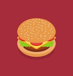 Burger isometric style vector