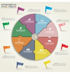 Business Infographics circle modern style vector