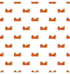 Butterfly tie pattern cartoon style vector