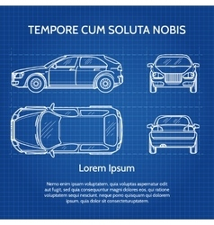 Car blueprint vector image