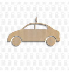 Car cut out of cardboard vector