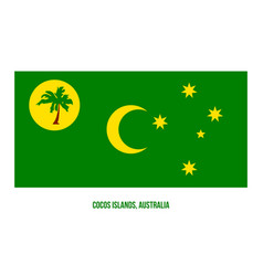 Cocos islands cc flag on white background vector
