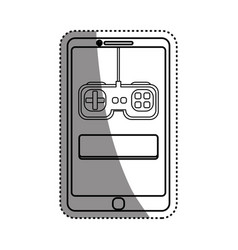 console gamepad device vector image