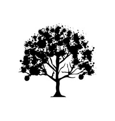 Contour trees with some leaves icon vector