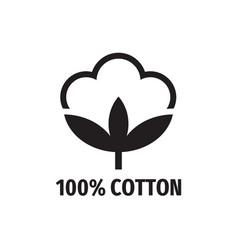 cotton - web black icon design natural fibe vector image