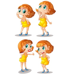 Crazy girls vector image
