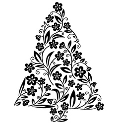 cute floral christmas vector image
