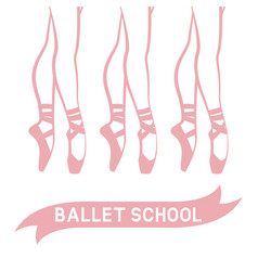 dancing ballerinas in pointe shoes vector image