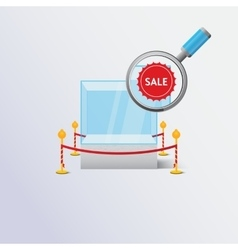 Display sale case vector