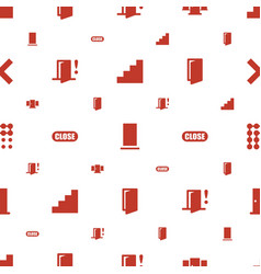 Exit icons pattern seamless white background vector