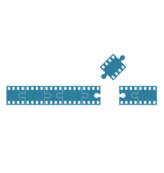 film stock as jigsaw vector image