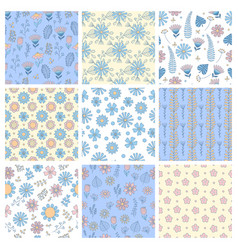floral pattern geometrical simple shapes vector image