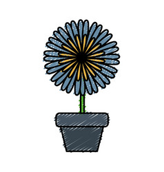 Flower in a pot vector