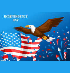 fourth july independence day greeting card vector image