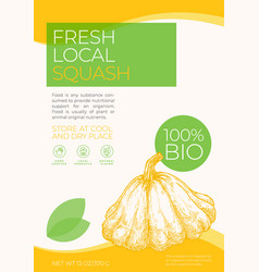 Fresh local vegetables label template abstract vector