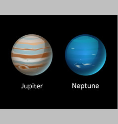 High quality jupiter galaxy astronomy neptune vector