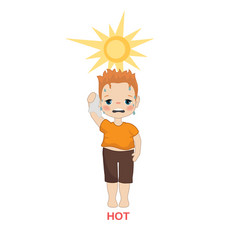 hot weather boy vector image