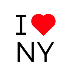 I love ny popular symbol heart vector