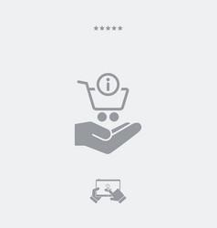 Info shopping cash - minimal modern icon vector