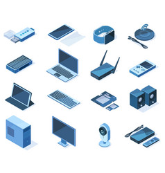 isometric electronic technology 3d wireless gadget vector image