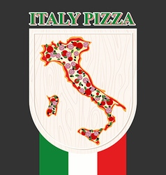 Italian pizza Sign for a restaurant or Cafe Pizza vector