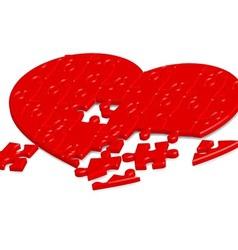 Jigsaw heart2 vector