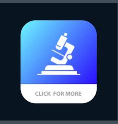 Lab microscope science zoom mobile app icon design vector