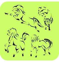Light Horses - set Vinyl-ready vector image