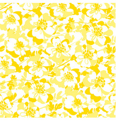 Light yellow and white abstract flowers background vector