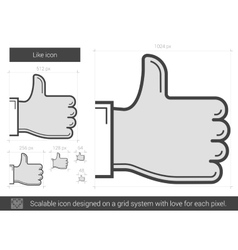 Like line icon vector
