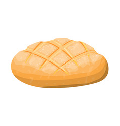 Loaf wheat toast bread vector