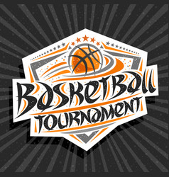 logo for basketball tournament vector image